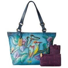 Buy Anuschka Handbags - 524 (Hawaiian Twilight) - Bags and Luggage new - Zappos is proud to offer the Anuschka Handbags - 524 (Hawaiian Twilight) - Bags and Luggage: Feel exotic and prepare to be noticed with this hand painted leather handbag that features a tropical floral...