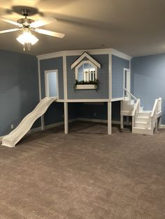 Indoor playhouse / treehouse for kids