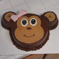 Girl monkey cake...leaving the bow off mine for my little mr. monkey ;)