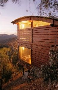 Two-story Tree House overlooking the ocean, the mountains and the rain forest.