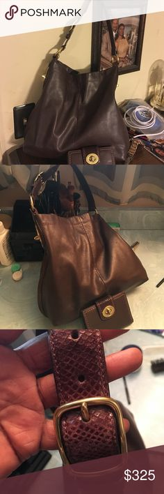 COACH  SET Beautiful Coach set excellent condition bought here on Poshmark authentic soft leather lovely shoulder strap clean on inside and out snapped closing beautiful set soft leather 💕💕 Coach Bags Shoulder Bags