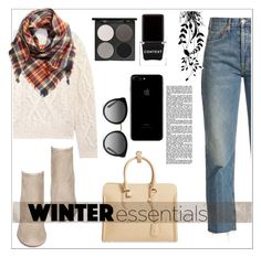 """""""Get Up For Winter"""" by red-rose26 ❤ liked on Polyvore featuring RE/DONE, Acne Studios, Aquazzura, Alexander McQueen, Dolce&Gabbana, BP., Gorgeous Cosmetics and Context"""