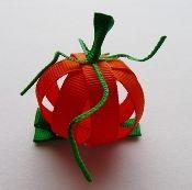 An really neat 3-dimensional pumpkin bow