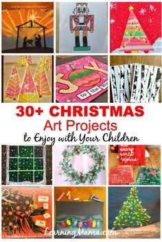 30 + Christmas Art Projects to Enjoy with Your Children - Learning Mama Christmas Art Projects, Christmas Activities For Kids, Christmas Crafts, Christmas Recipes, Christmas Traditions, Christmas Themes, Kids Christmas, Christmas Decorations, Xmas