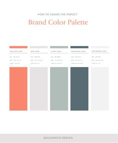 Creating the perfect color palette for your brand to implement into your brand color mood board. Website Color Palette, Colour Pallette, Color Palate, Colour Schemes, Website Color Schemes, Web Colors, Mood Colors, What Is Fashion Designing, Graphisches Design