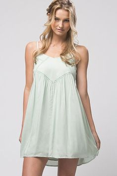 Lace inset swing dress for this season!Easy to wear, adjustable straps.Perfect for this summer!100% Rayon