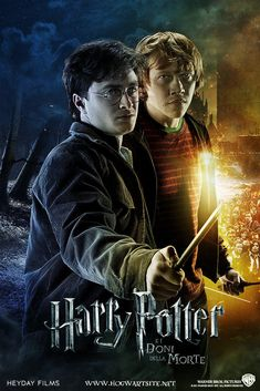 Harry and Ron - Deathly Hallows Extended by HogwartSite on DeviantArt Harry Potter Portraits, Harry Potter Movie Posters, Harry Potter Props, Mundo Harry Potter, Harry Potter Spells, Harry Potter Cast, Harry Potter Characters, Harry Potter World, Harry Potter Tumblr