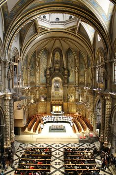 The Escolania de Montserrat, one of the oldest boys choirs in Europe, founded in the 14th century.