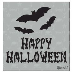 This Happy Halloween stencil will make your Halloween projects extra spooky and cool! All of our Halloween stencils can be used to customize shirts, create Halloween party invites, stencil your trick-or-treat bags, and of course paint pumpkins! Halloween Stencils, Halloween Projects, Fall Halloween, Happy Halloween, Halloween Sayings, Halloween Dinner, Halloween Celebration, Halloween Fabric, Halloween Patterns