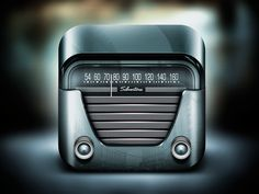 Dribbble - Silvertone Radio by Alex Bender
