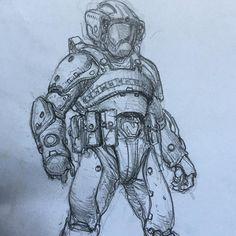 regram @karlkopinski #sketching spacedoodle!
