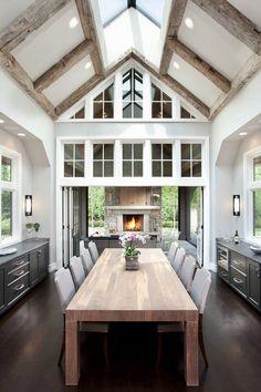 Inspiring Modern Dining Room Design Ideas – Decorating Ideas - Home Decor Ideas and Tips Dining Room Inspiration, Luxury Interior Design, Luxury Decor, Dining Room Design, Dining Area, Kitchen Design, Dining Tables, Home Fashion, My Dream Home