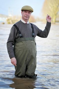 And he doesn't do half-measures. This man is wearing waders. | 21 Pictures Of Politicians In Wellies Staring At Floods