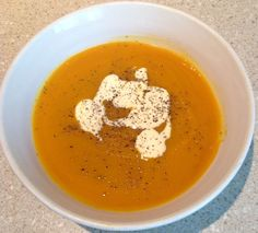 Sweet Potato and Pumpkin Soup (Thermomix Method Included) - Mother Hubbard's Cupboard Pumkin Soup, A Pumpkin, Paleo Recipes, Soup Recipes, Dinner Recipes, Recipies, Healthy Canned Soups, Thermomix Soup, Sweet Potato Soup