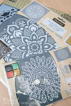 Mandala Stencils are so beautiful in design and meaning! Here's an MCM painted dresser makeover using mandala stencils.