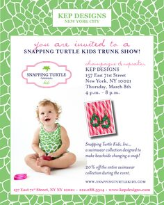 snapping turtle kids trunk show at kep designs