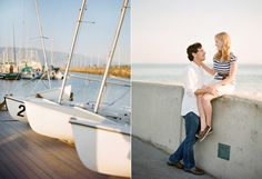 Nautical Engagement Session  www.lavenderandtwine.com