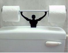 Toilet paper holder :-)