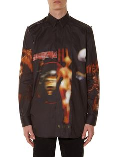 GIVENCHY Heavy metal-print distressed shirt €790