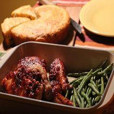 Chicken with Cornbread Stuffing
