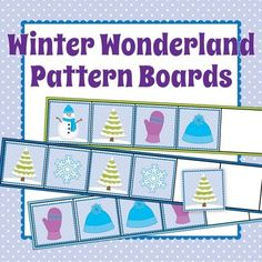 Want your kids to do more than find the next element in a pattern?  This winter themed patterning activity gives kids the opportunity to continue the entire pattern.