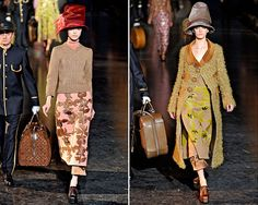 my favorite is the outfit on the right!  love this theatrical, funky and fun collection from Louis Vuitton / Marc Jacobs for Fall 2012 -