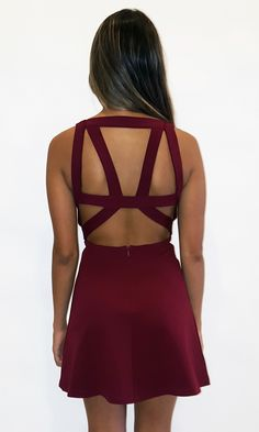 Bond Flare Dress - Burgundy