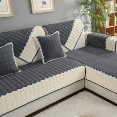 OstepDecor Multisize Rectangular Quilted Furniture Protector and Slipcover for Pets Kids Dogs Sofa Loveseat Recliner and Chair Dark Grey x 110 x >>> Check this awesome product by going to the link at the image. (This is an affiliate link) Diy Sofa Cover, Sofa Cushion Covers, Couch Covers, Cushions On Sofa, Sectional Couch Cover, Sofa Set, Loveseat Recliners, Furniture Covers, Sofa Furniture