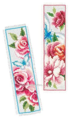 Buy+Flowers+and+Butterflies+Bookmarks+Cross+Stitch+Kit+Online+at+www.sewandso.co.uk