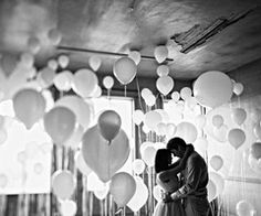 Balloons engagement. ♥