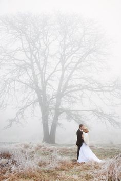 Romantic, big shot tiny couple - beautiful, an argument or getting married in the winter.