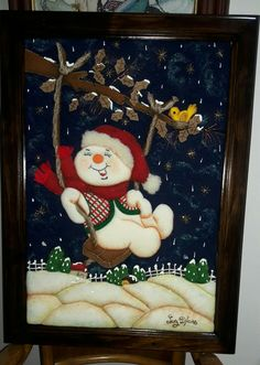 Christmas Crunch, Felt Christmas, Xmas, Coca Cola, Snowman, Diy And Crafts, Applique, The Originals, Frame