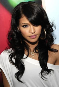 Recommendations regarding fantastic looking women's hair. Your hair is usually what can define you as an individual. To several men and women it is certainly important to have a decent hair style. Hair and beauty. Curly Hair Styles, Natural Hair Styles, Natural Face, Cassie Ventura, Mixed Girls, Long Wavy Hair, Thing 1, Her Hair, Hair Inspiration