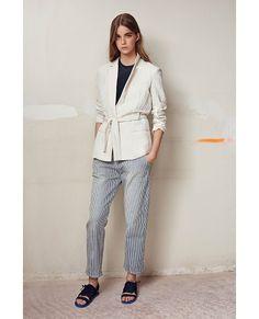 Veste ceinturée en lin Comptoirs des Cotonniers SS16 - Couleur ECRU
