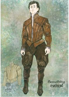 """Concept art for Broadway's """"Something Rotten!"""" (2015), a fractured retelling of the Shakespearean theatrical scene."""