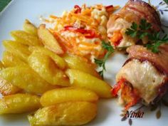 RULADA DIN PIEPT DE CURCAN Romanian Food, Macaroni And Cheese, Shrimp, Chicken Recipes, Grilling, Meat, Ethnic Recipes, Print Ideas, Blog