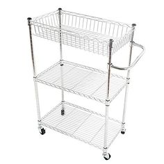 Chrome Metal Wire Shelving Features: * Sturdy design with high quality chrome finish * #Adjustable #shelves and add-on structure * Easy assemble and dismantle, n...