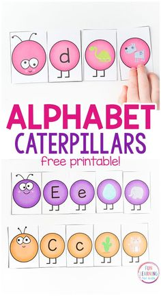 Caterpillar letters sounds activity for spring! A fun, hands-on alphabet activity for preschool and kindergarten! #alphabetactivity #literacy #literacycenters #springactivities