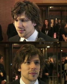 Look at that hair  . . . . . . . . . . . #jesseeisenberg #cafesociety…