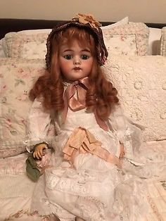 Simon-and-Halbig-1079-DEP-Antique-Bisque-Doll-25-034-with-Perfect-Head