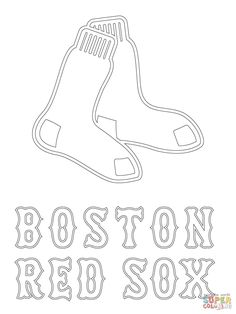 Boston Red Sox Logo coloring page from MLB category. Select from 26073 printable crafts of cartoons nature animals Bible and many more. Printable Crafts, Free Printables, Printable Worksheets, Red Sox Cake, Baseball Coloring Pages, Moldes Para Baby Shower, Boston Red Sox Logo, Red Sox Baseball, Baseball Banner