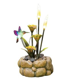 Take a look at this Flower & Bird Garden Fountain by Kelkay on #zulily today!