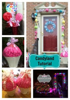Diy candyland christmas decorations tree the budget decorator diy candy decorations christmas themes for decorations christmas theme um size of how to make giant fake lollipops candyland outdoor christmas decorations candy land decorations Candy Land Christmas, Candy Christmas Decorations, Christmas Yard, Christmas Themes, Holiday Crafts, Christmas Holidays, Xmas, Outdoor Decorations, Cupcake Party