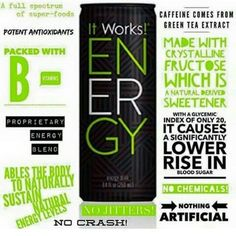 Need some energy? This right here does it! Must try it!!!! #ItWorks #bringit www.katbennett.myitworks.com