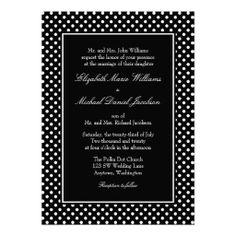 Black and White Polka Dot Wedding Invitations