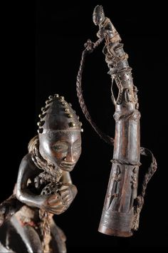 TRUMPET HORN Trumpet/horn used during the hunting rituals or a call for war ~ from the Bamoun / Bamileke people of Cameroon