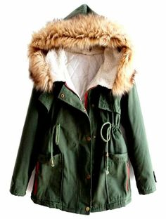 Comfy & Cozy Green Fur Jacket   GOD I WANT OF THESE SO BAD IVE PUT IT ON MY CHRISTMAS LIST EVERY YEaR