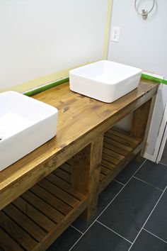 Sealing wood counters on bathroom vanity
