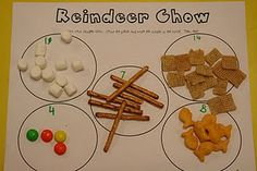 Reindeer chow, sorting, counting, graphing, eating. : )