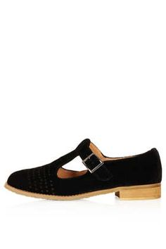 MOLLY2 Velvet T-bar Geek Shoes - Flats  - Shoes